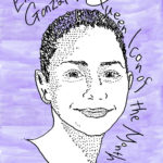 Emma González: Queer Icon of the Month. Artwork by Kiki Saito. Text by Amelie Eckersley