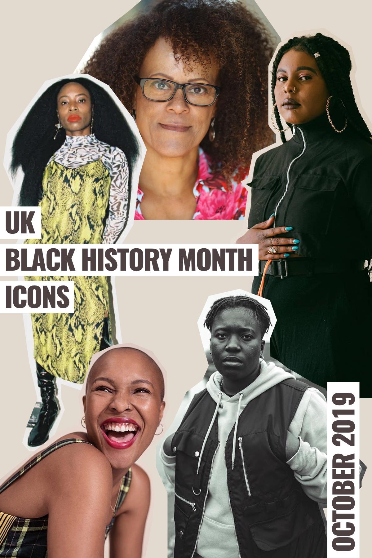 YEOJA Mag - UK Black History Month - UK Black History Month Icons 2019 - Written by Candice Nembhard , Artwork by Rae Tilly
